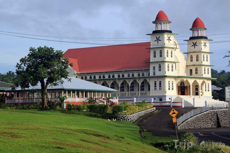 Fotka, Foto Ostrov Savaii, kostel (Samoa)