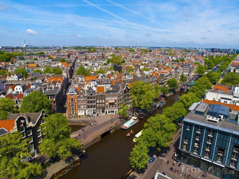 Fotka, Foto Panorama Amsterdamu (Nizozemsko)