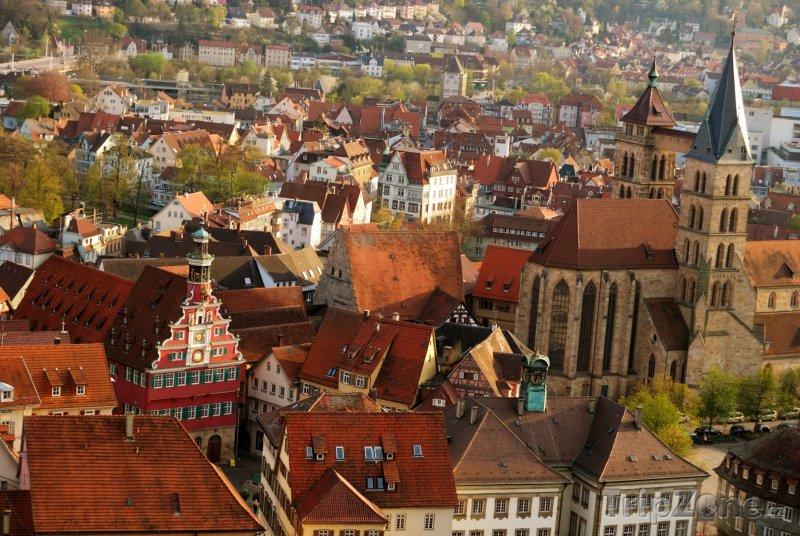 Fotka, Foto Panorama města Esslingen am Neckar (Bádensko-Württembersko, Německo)