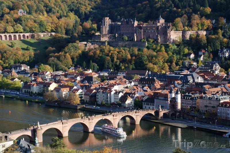 Fotka, Foto Panorama města Heidelberg (Bádensko-Württembersko, Německo)