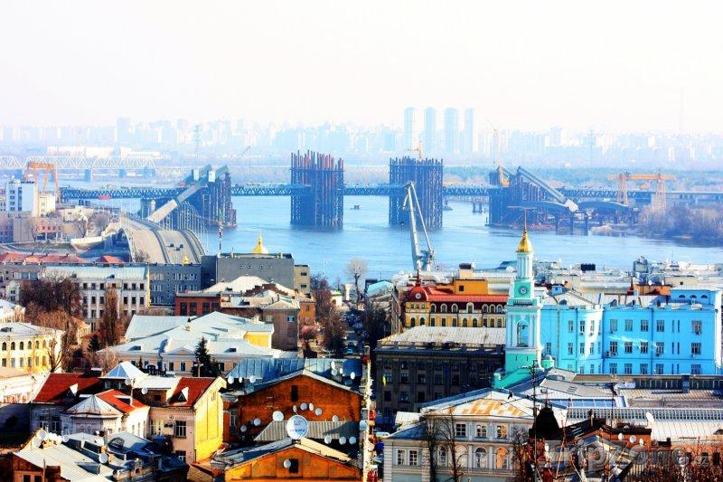 Fotka, Foto Panorama města (Kyjev, Ukrajina)