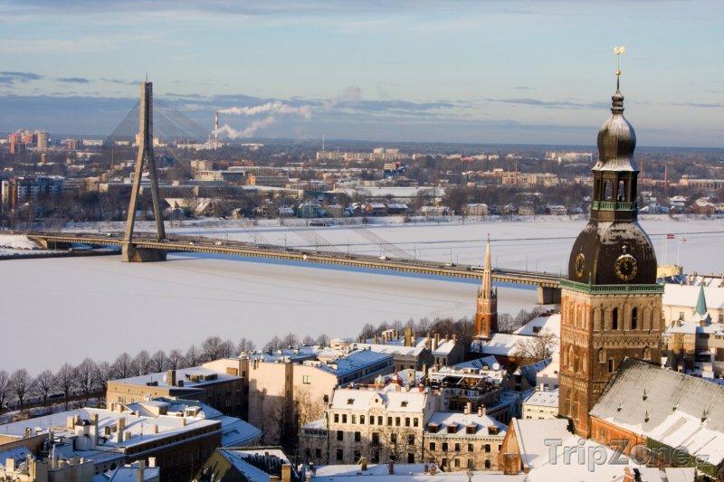 Fotka, Foto Panorama města (Riga, Lotyšsko)