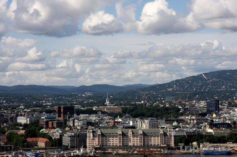 Fotka, Foto Panorama města (Oslo, Norsko)