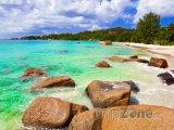 Pláž Anse Lazio na ostrově Praslin