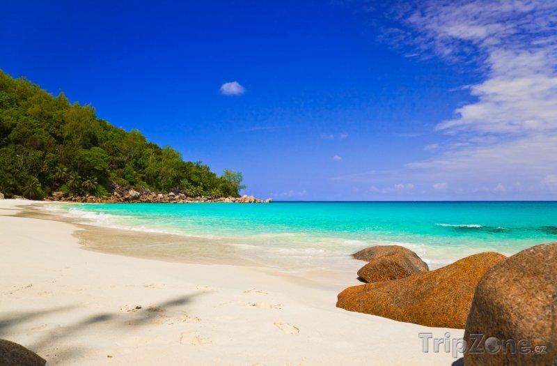 Fotka, Foto Pláž na ostrově Praslin (Seychely)