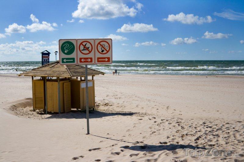 Fotka, Foto Pláž ve městě Ventspils (Lotyšsko)