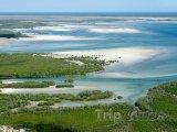 Pobřeží na jihu Mosambiku