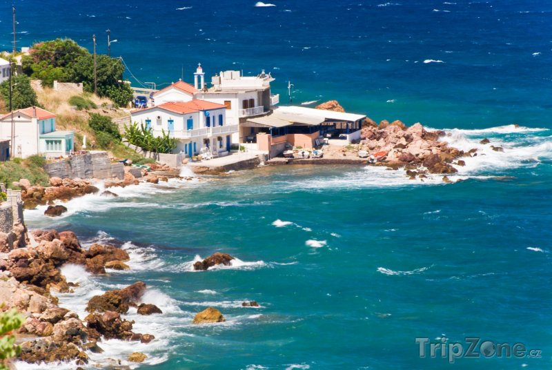 Fotka, Foto Pobřeží obce Pythagoreio na ostrově Samos (Řecko)