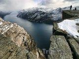 Pohled na Lysefjord z hory Kjerag