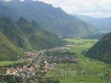 Pohled na městečko Mai Chau