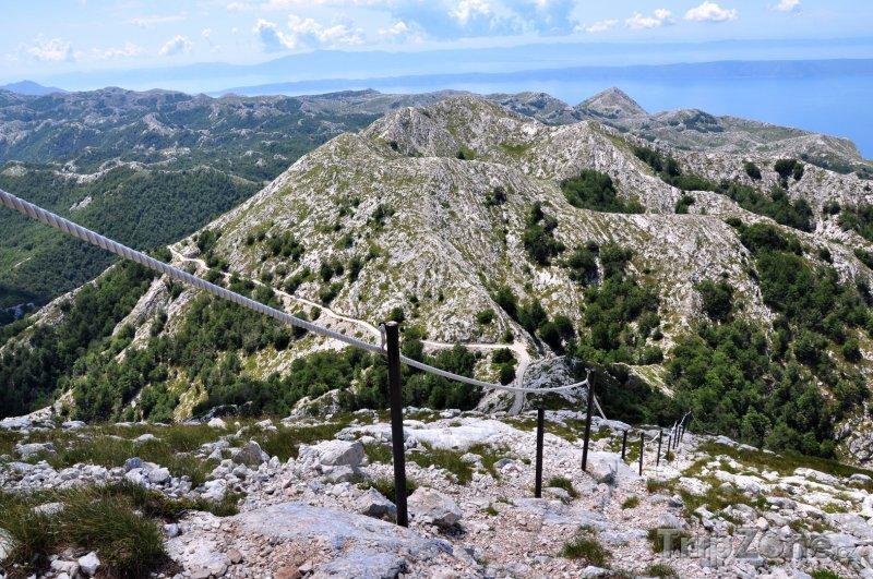 Fotka, Foto Pohled na pohoří Biokovo z hory sv. Jura (Makarská riviéra, Chorvatsko)