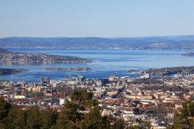 Pohled na záliv Oslofjord