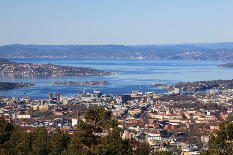 Fotka, Foto Pohled na záliv Oslofjord (Oslo, Norsko)