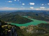 Pohled z hory Generoso na Luganské jezero