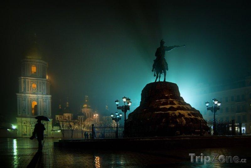 Fotka, Foto Pomník Bohdana Chmelnického (Kyjev, Ukrajina)
