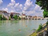 Řeka Rýn v Basileji