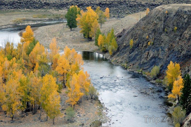 Fotka, Foto Řeka v poušti Gobi (Mongolsko)