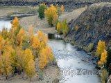 Řeka v poušti Gobi
