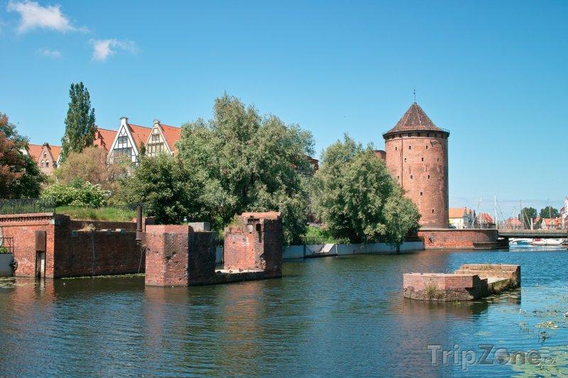 Fotka, Foto Řeka Visla v Gdaňsku (Polsko)