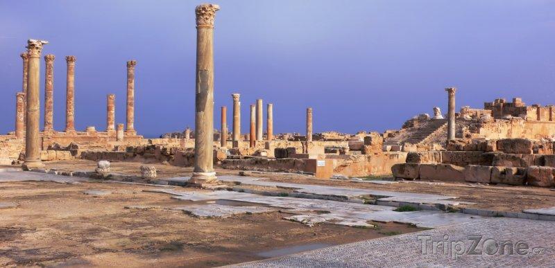 Fotka, Foto Ruiny ve starověkém městě Sabratha (Libye)