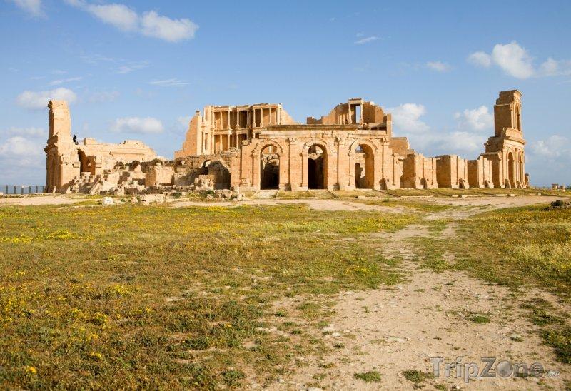 Fotka, Foto Sabratha, ruiny divadla (Libye)