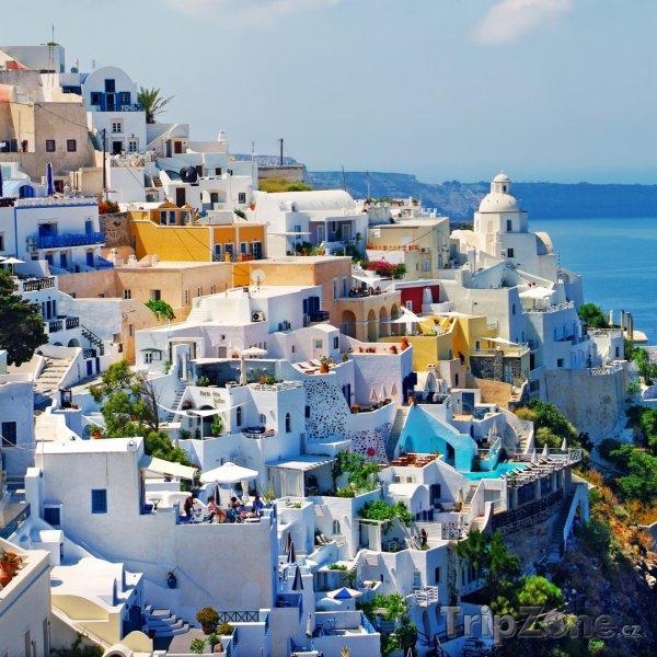 Fotka, Foto Santorini, město Fira (Řecko)