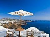 Santorini, posezení na terase