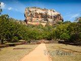 Sigiriya, pohled na skálu