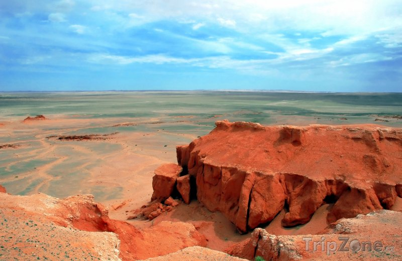 Fotka, Foto Skály v poušti Gobi (Mongolsko)