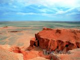 Skály v poušti Gobi