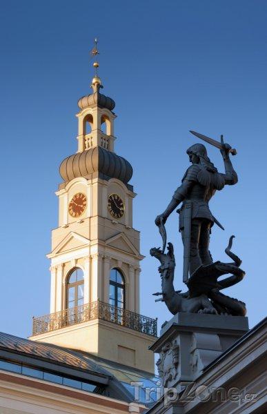 Fotka, Foto Socha na Domu u černých hlav (Riga, Lotyšsko)