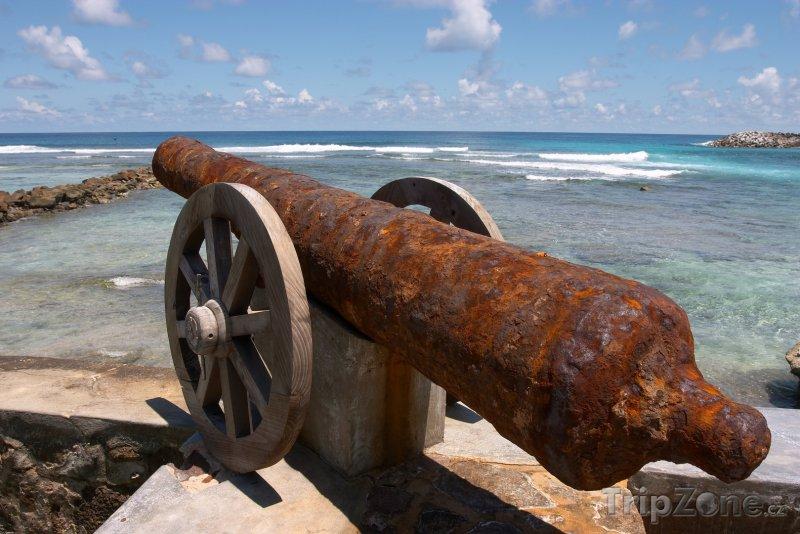 Fotka, Foto Starý kanon na ostrově Frégate (Seychely)