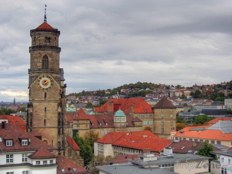 Fotka, Foto Stiftskirche ve Stuttgartu (Bádensko-Württembersko, Německo)