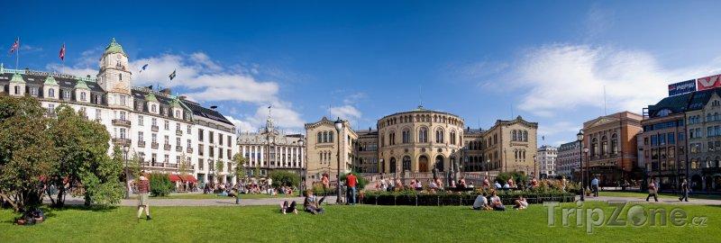 Fotka, Foto Stortinget, budova norského parlamentu (Oslo, Norsko)