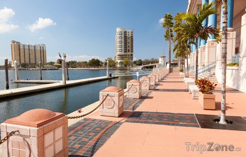 Fotka, Foto Tampa, promenáda v obchodním centru města (USA)