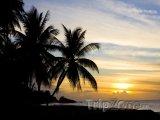 Tobago, západ slunce nad Turtle Beach