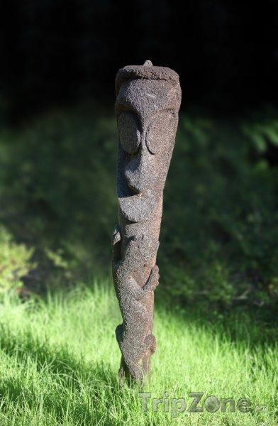 Fotka, Foto Totem v trávě (Vanuatu)
