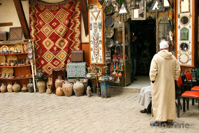 Fotka, Foto Tradiční obchod s keramikou (Maroko)
