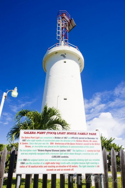 Fotka, Foto Trinidad, maják v oblasti Galera Point (Trinidad a Tobago)