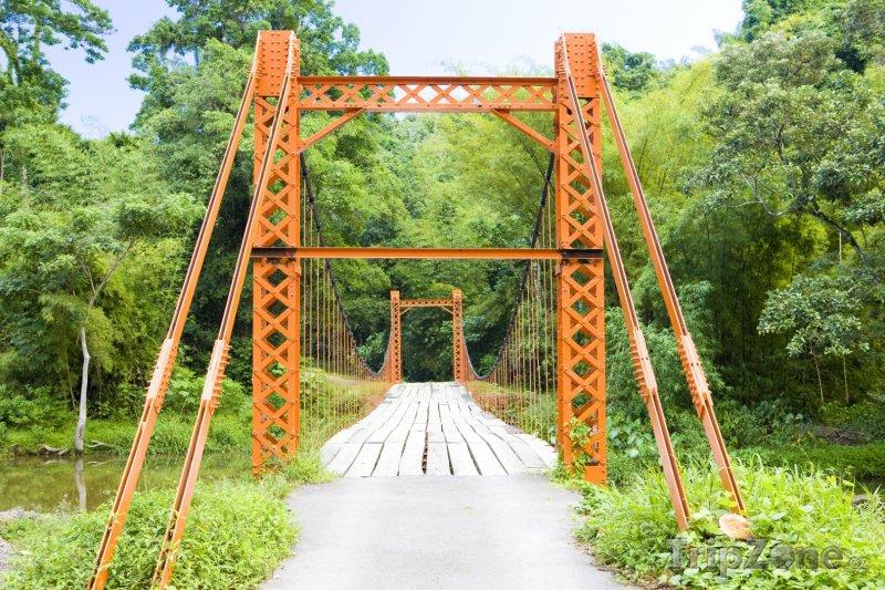 Fotka, Foto Trinidad, most u vesnice Blanchisseuse (Trinidad a Tobago)