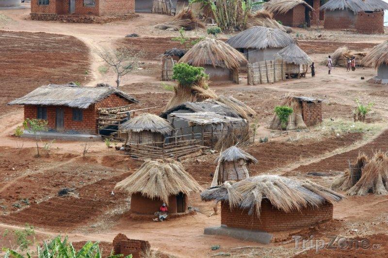 Fotka, Foto Typická malawijská vesnice (Malawi)