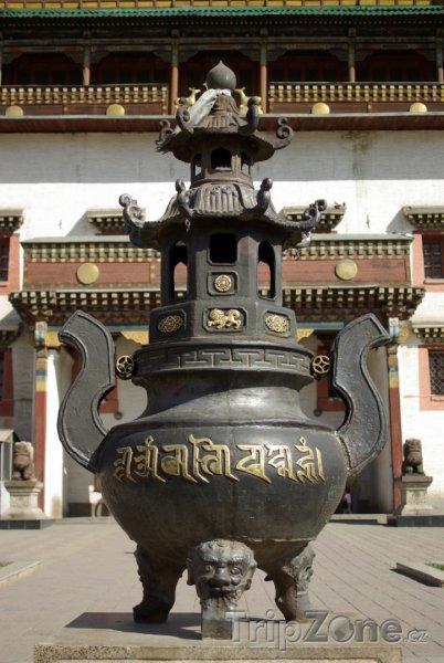 Fotka, Foto Ulánbátar, buddhistická urna (Mongolsko)
