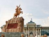 Ulánbátar, pomník Süchbátara