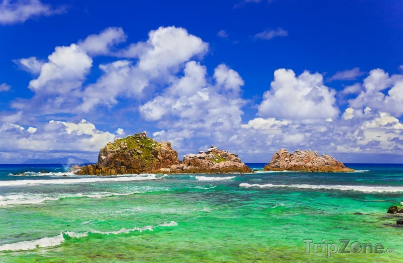 Fotka, Foto Útesy v moři (Seychely)