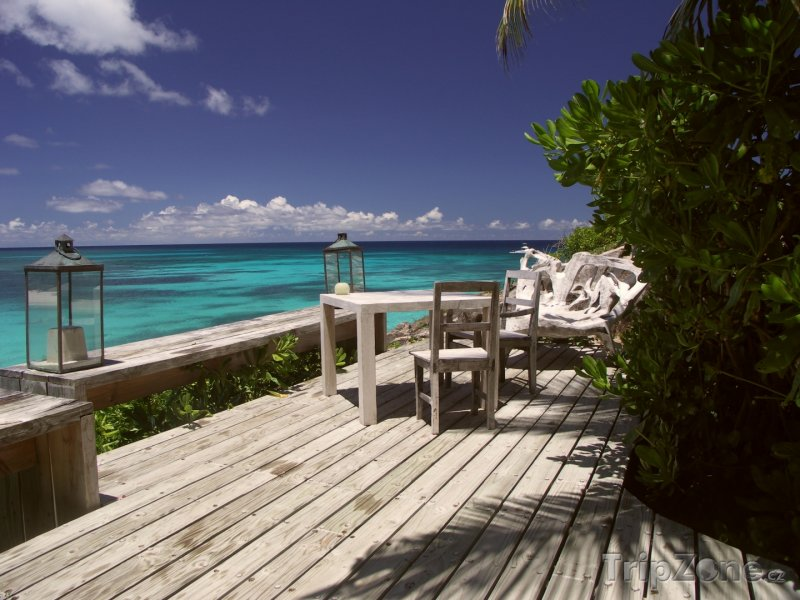 Fotka, Foto Veranda na pobřeží (Seychely)
