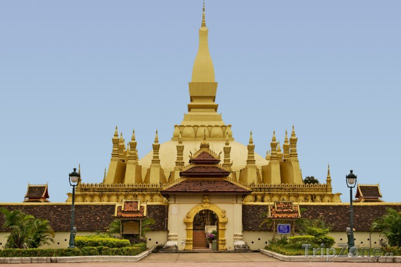Fotka, Foto Vientiane, stúpa Pha That Luang (Laos)