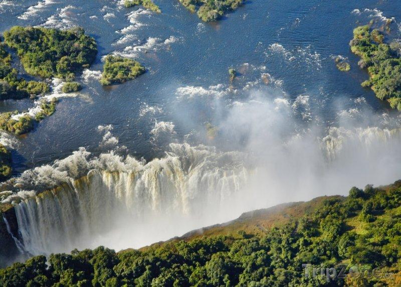 Fotka, Foto Viktoriiny vodopády (Zambie)