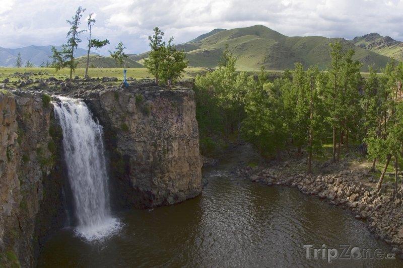 Fotka, Foto Vodopád Ulán Tsutgalan na řece Orchon gol (Mongolsko)