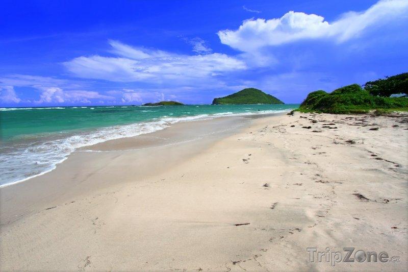Fotka, Foto Vyhlášená pláž Anse de Sables (Svatá Lucie)