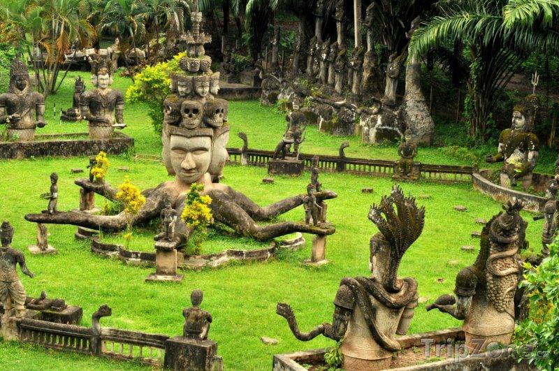 Fotka, Foto Xieng Khuan, park Budhhů ve Vientiane (Laos)